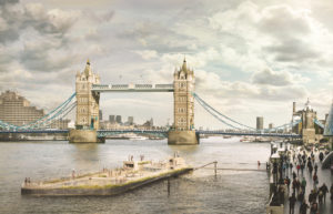 Artist impression of a lido on the Thames. Photo credit: Studio Octopi and Picture Plane