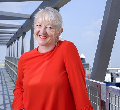 Smiling headshot of Kate Willard OBE Estuary Envoy and Chair of the Thames Estuary Growth Board